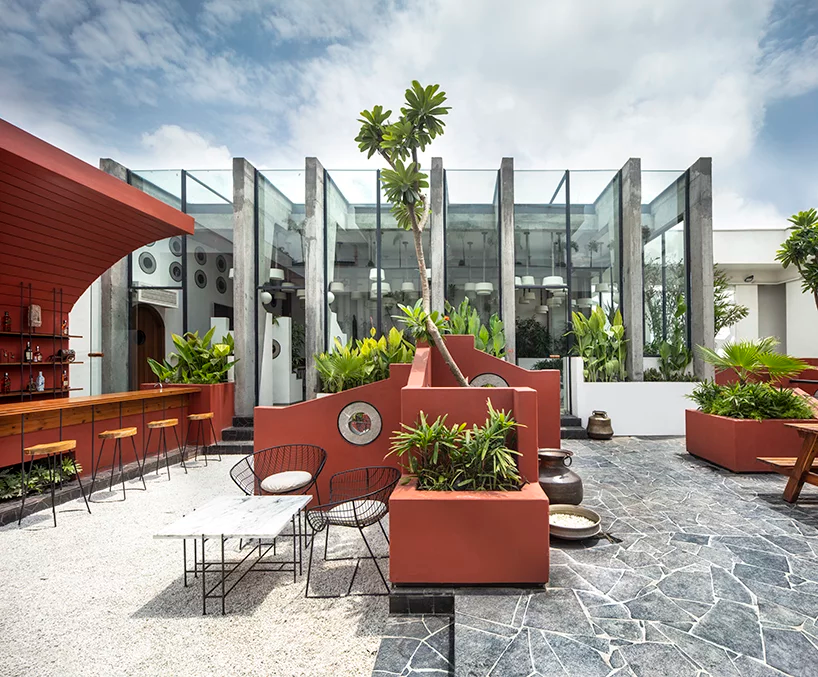Portal 92 Incorporates The Dynamics Of A Rural Village Into Trendy Rooftop Cafe In India Outdoor Outdoor Bar Outdoor Seating Areas