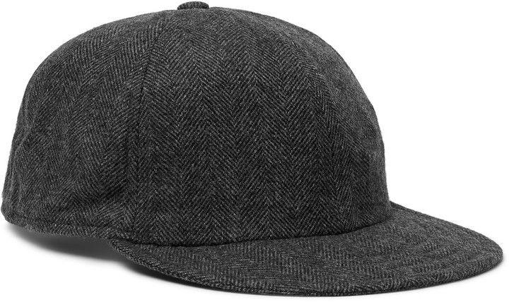 fe7cf549334 Borsalino Herringbone Virgin Wool-Blend Baseball Cap
