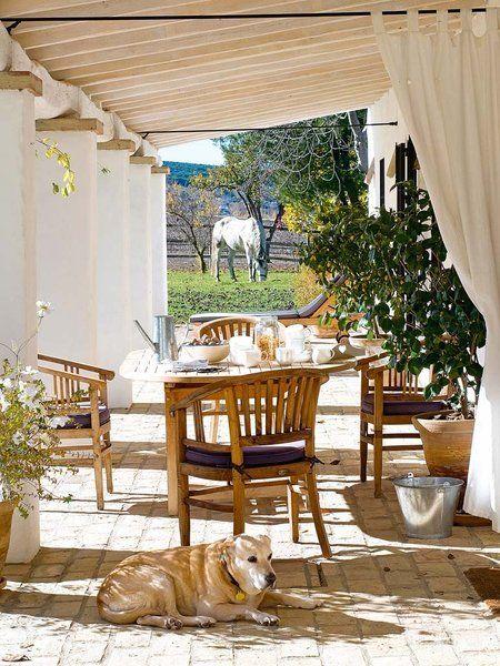 Cortinas fuera telas para exterior decoraci n for Cortinas para terrazas exteriores