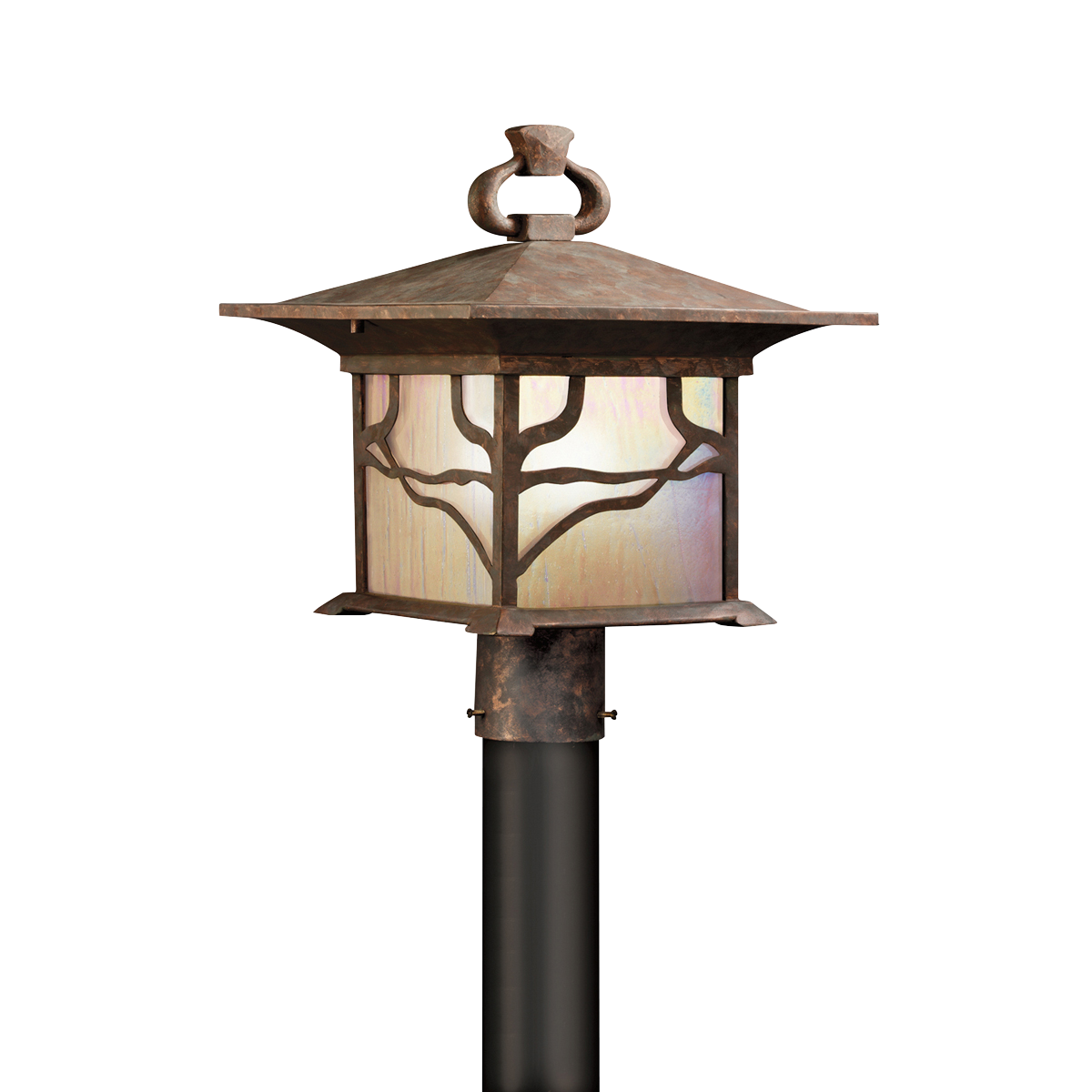 1 light mission design outdoor post fixture morris collection kichler morris oriental outdoor post lantern by kichler lighting aloadofball Images
