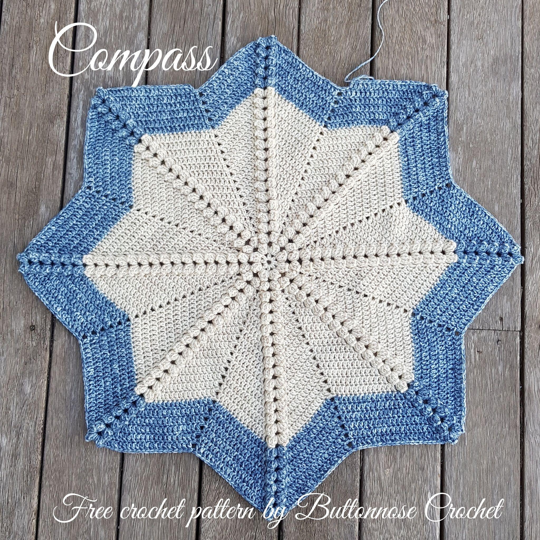 Compass Blanket #starblanket #crochetbabyblanket #babyblanket ...