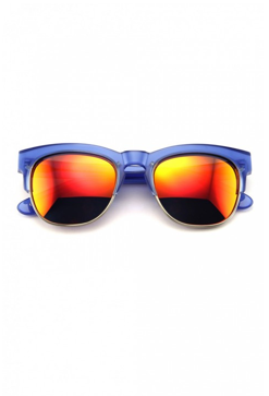 WILDFOX Couture- Club Fox Deluxe Sunglasses. The Clubfox features Italian acetate contrasted by metal-rimmed lens, making for a classic combination frame. Flash mirror lens. Handmade with Italian acetate. CR39 optical grade lenses offering UV A and B protection. 5 barrel French comotec hinge. Case and cleaning cloth included.