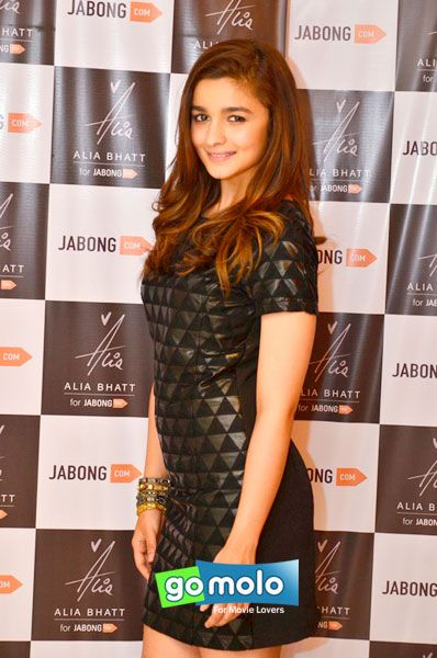 Alia Bhatt Launch designs during the launch of fashion