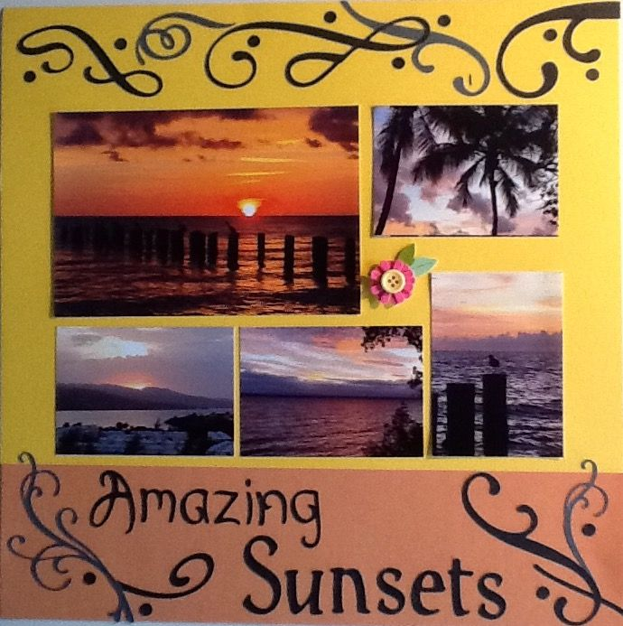 Amazing+Sunsets - Scrapbook com | Scrapbook | Cruise scrapbook pages