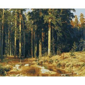 Лесное царство ( художник Шишкин И.И. ) Раскраска (картина) по номерам акриловыми красками на холсте Menglei