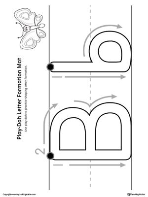 letter formation play doh mat letter b printable alphabet worksheets pinterest letter. Black Bedroom Furniture Sets. Home Design Ideas