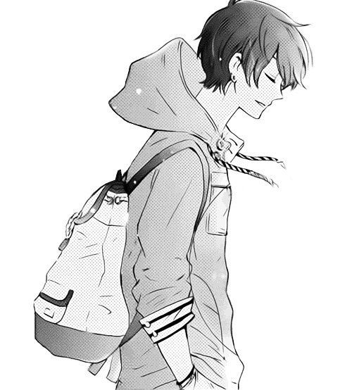 Anime Boy Reference Wearing Hoodie And Backpack Drawings