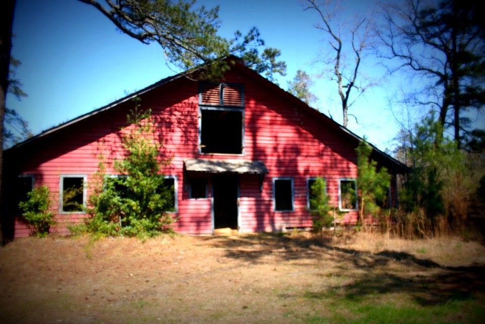 Polo pony barn at the abandoned Percy Rockefeller estate near Fayetteville, North Carolina