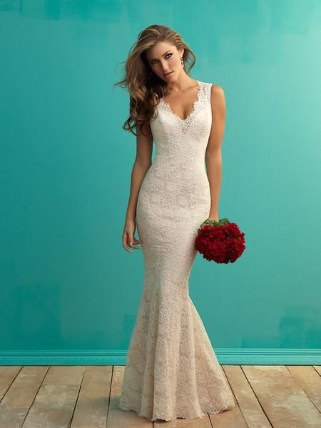 Allure Bridals 9253 Lace Fit and Flare Wedding Dress | Stina\'s Style ...