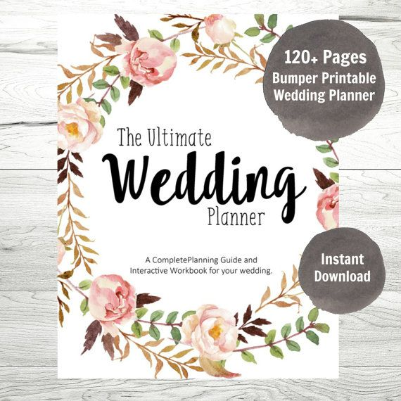 wedding planner printable wedding planner wedding binder diy