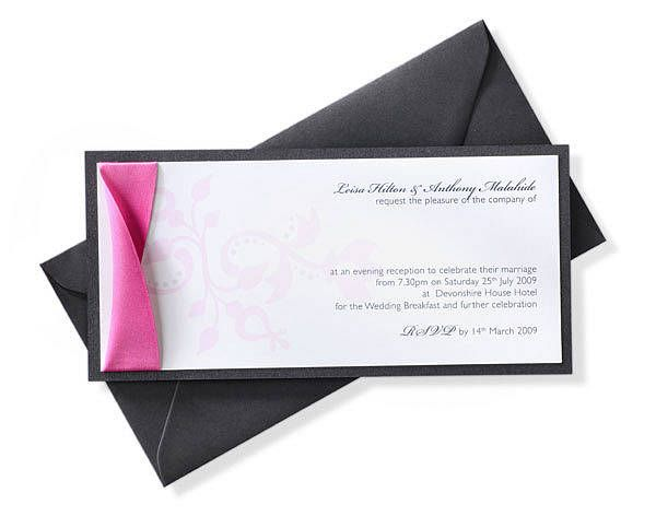 Baroque Mounted Invitation By Dragonfly Couture Stationery Notonthehighstreet