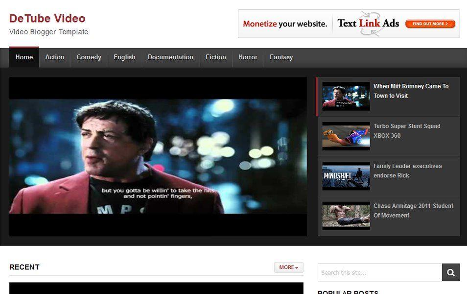 Detube Video Responsive Blogger Template Blogger Templates Templates Responsive Blogger Template