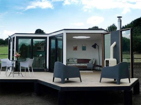 hivehaus hexagonal modular house inspiredbeehives and the