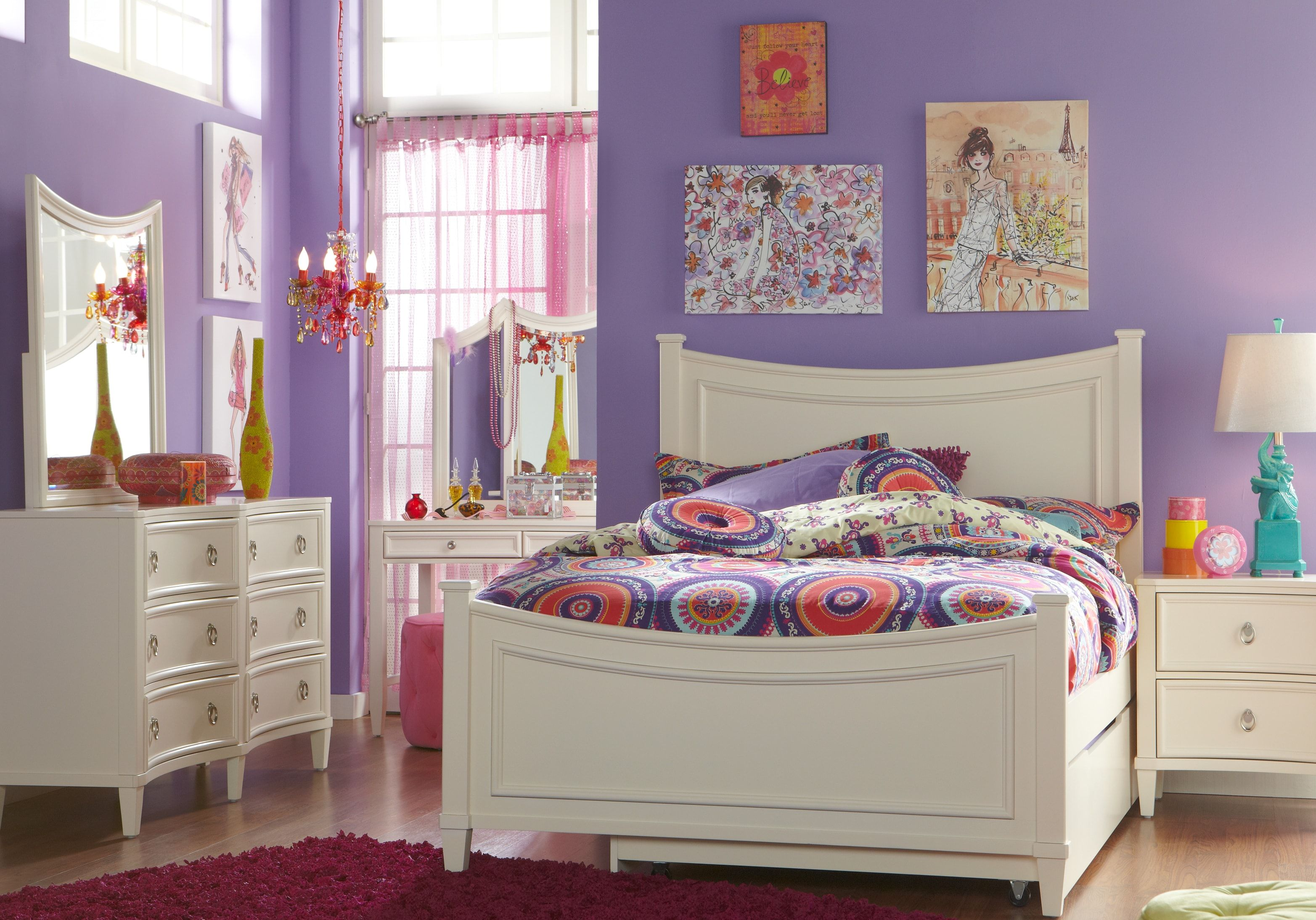 Jaclyn Place Ivory 5 Pc Full Panel Bedroom Bedroom Sets White