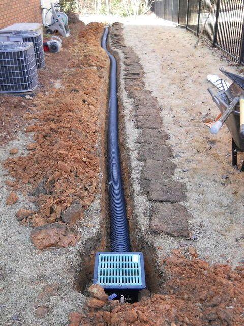 Rain Always Brings A Few Drainage Calls Some Past Solutions Gardening Plumbing Drainage Garten Hintergarten Garten Pflaster