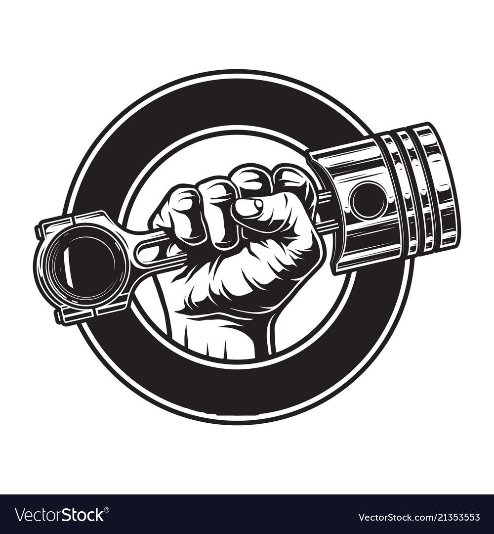 Vintage monochrome motorcycle label vector image on