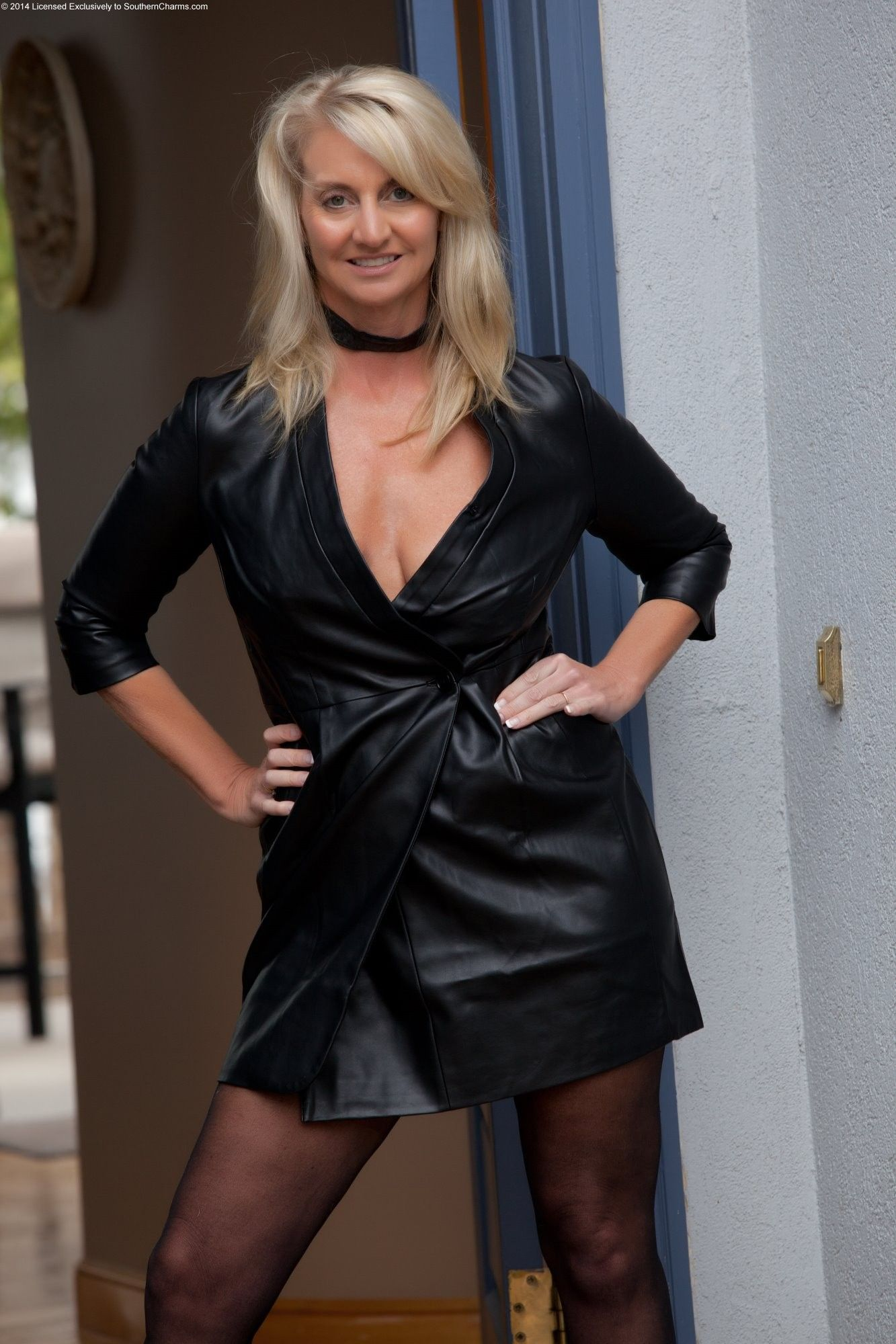 Great Leather Milf  Women In Leather - Leather, Leather -6028