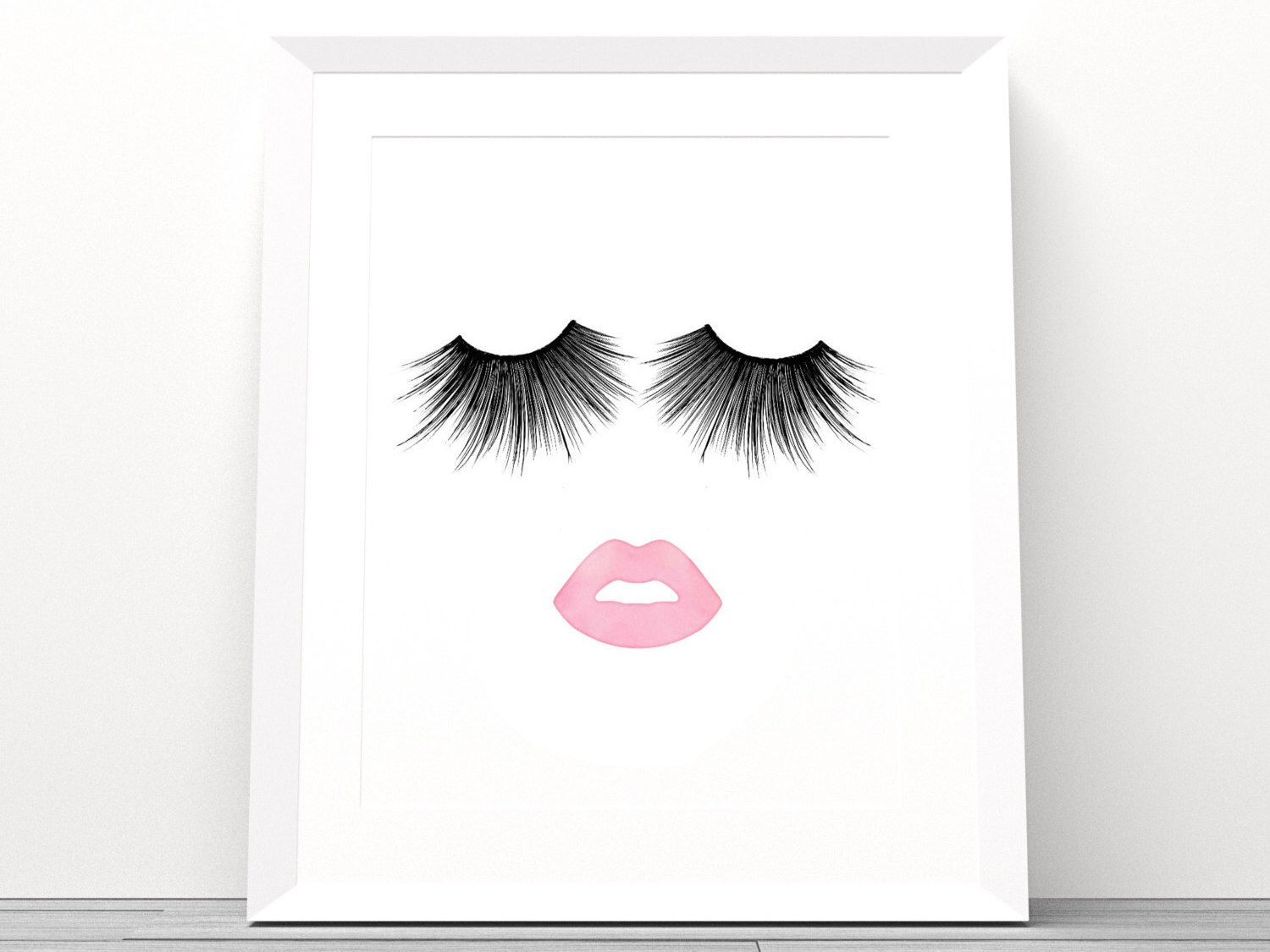 Limited Time Lips Amp Lashes Makeup Print Instant Download