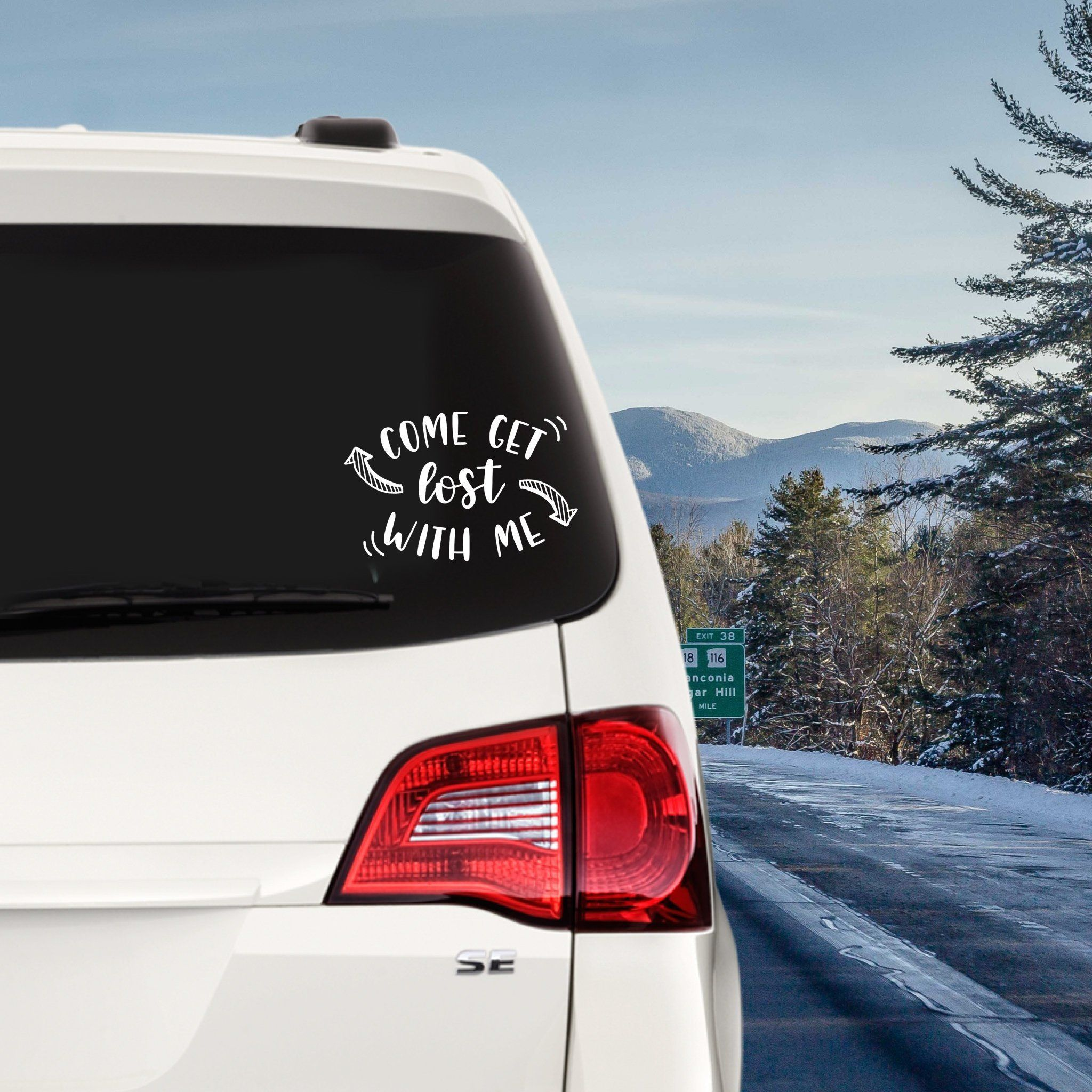 Come Get Lost With Me Custom Vinyl Decal Sticker Choose Your Color And Size Adventure Decal Camping Custom Vinyl Decal Custom Vinyl Vinyl Decal Stickers [ 2048 x 2048 Pixel ]