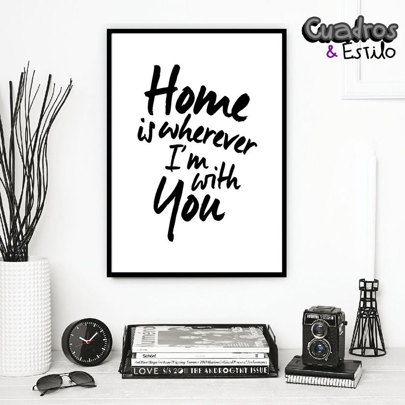 Cuadros poster frases blanco y negro minimalistas - Decoracion blanco y negro ...