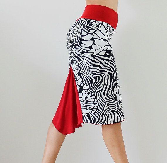 prezzo competitivo 3d164 9ea07 Animal Print Tango skirt,Milonga party, black and white ...
