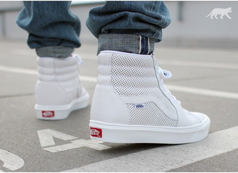 Vans SK8 Hi lite - Perforated White | Colorful shoe collection I ...