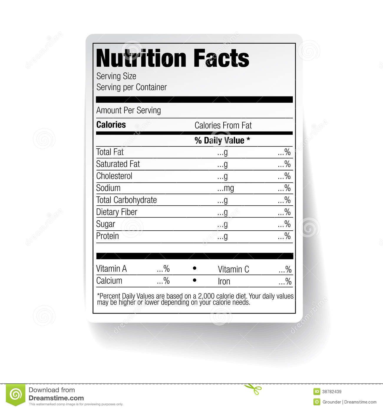 25 Images Of Empty Nutrition Label Template In