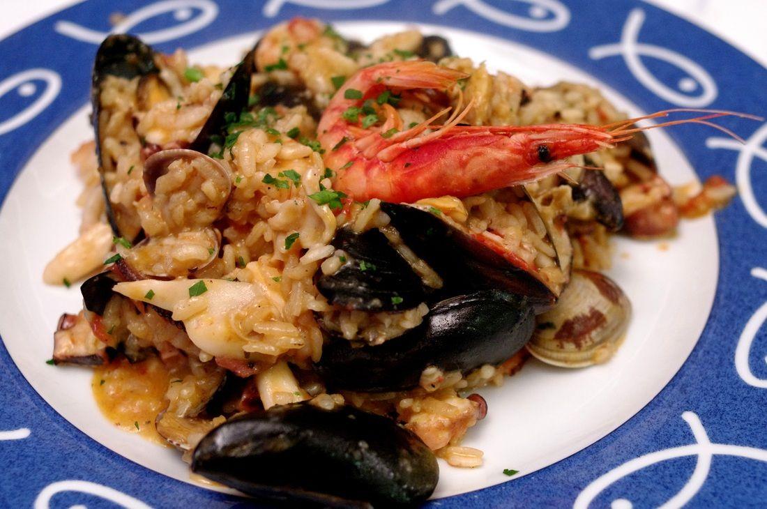 Risotto delfino seafood risotto @ ristorante bagni delfino
