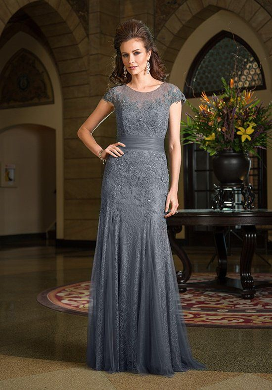Mermaid style Chantilly Lace gown with Soft Tulle waistband, lace ...