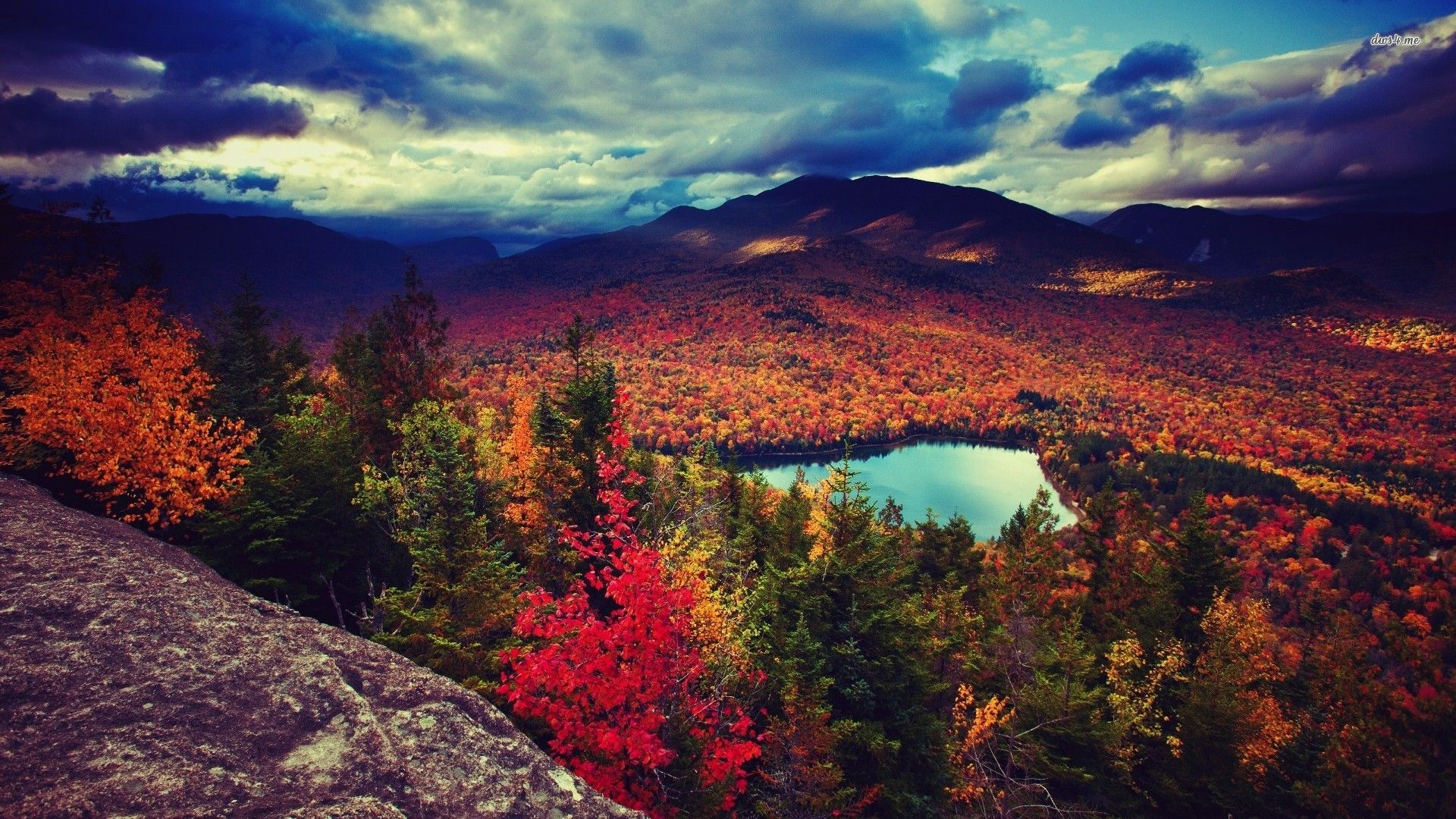 High Resolution Fall Wallpaper: Fall Mountain Wallpapers Desktop Background With Wallpaper