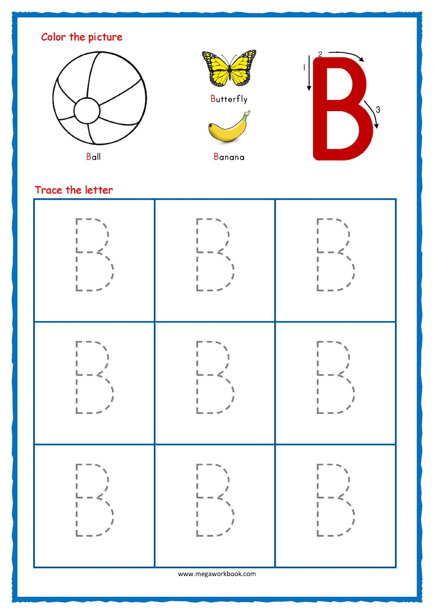 Printable Worksheets Alphabet Tracing In