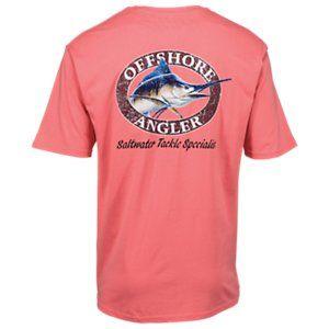 df891a5e32dc Offshore Angler Logo Short-Sleeve Pocket T-Shirt for Men - Blue Radiance -  Salmon Rose - 3XL