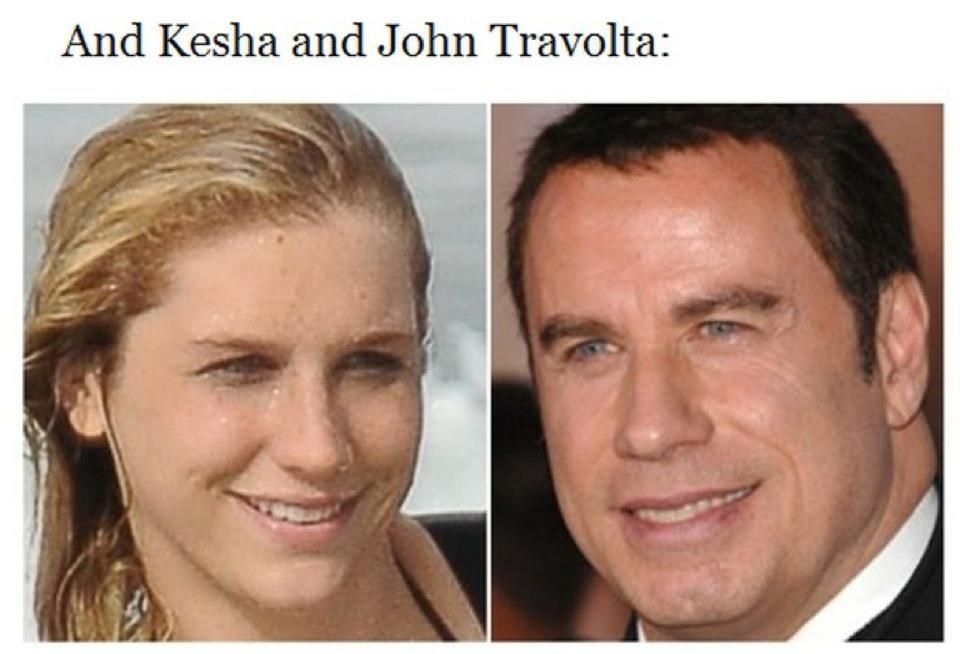 Http Www Letssmiletoday Com Pictures 11624 Look Alike John Travolta Kesha Ke Ha