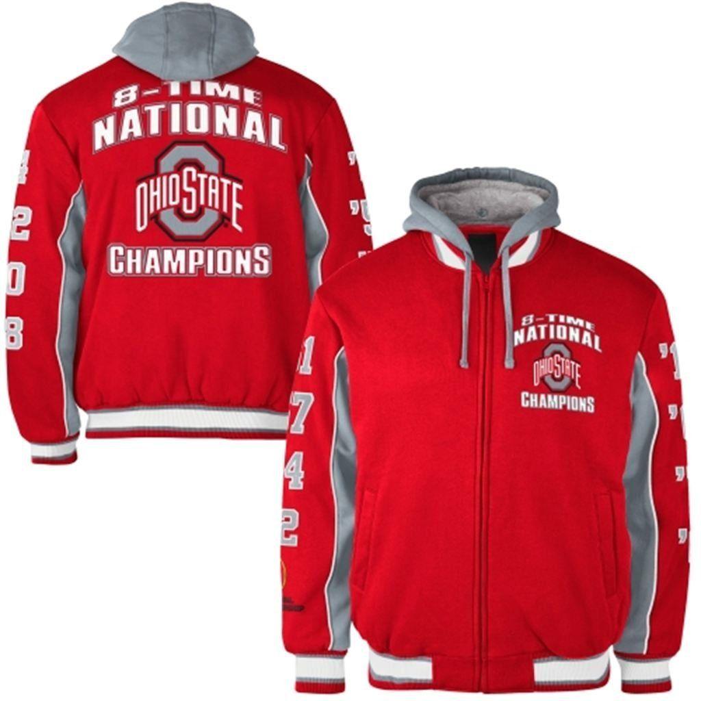 Ohio State Buckeyes Men S 8 Time National Champions Insulated Fleece Jacket Click On Image National Champions College Football Playoff Ohio State Buckeyes [ 1024 x 1024 Pixel ]