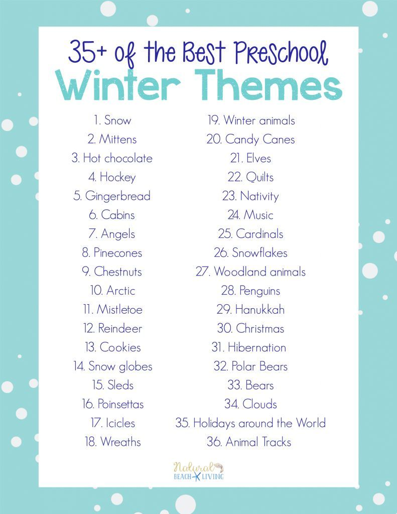 35 best winter preschool themes and lesson plans in 2018