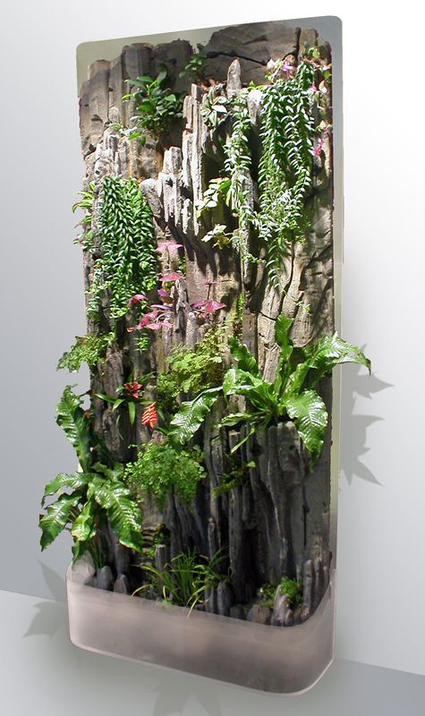 Jardín vertical de interior Indoor vertical garden Pared