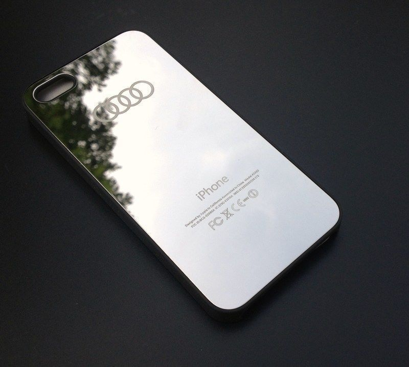 a537055b12 BACK COVER FOR IPHONE 5 / 5S AUDI MIRROR DESIGN HARD CASE   Iphone 5s