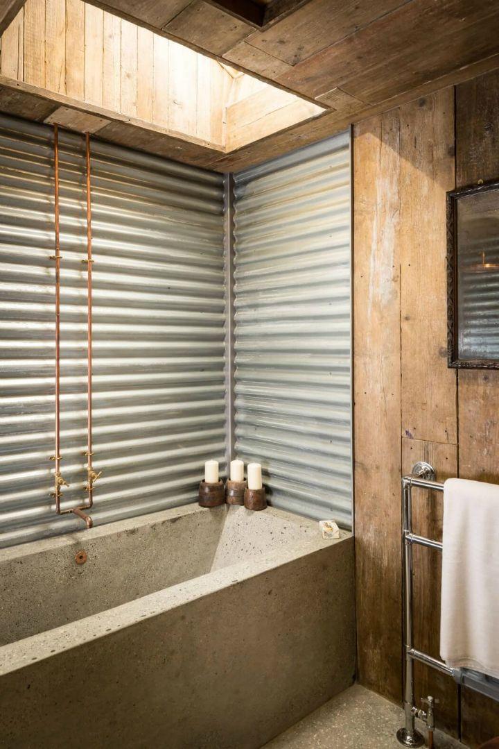 A Rustic Charm Cabin Modern Bathroom Remodel Rustic Bathroom