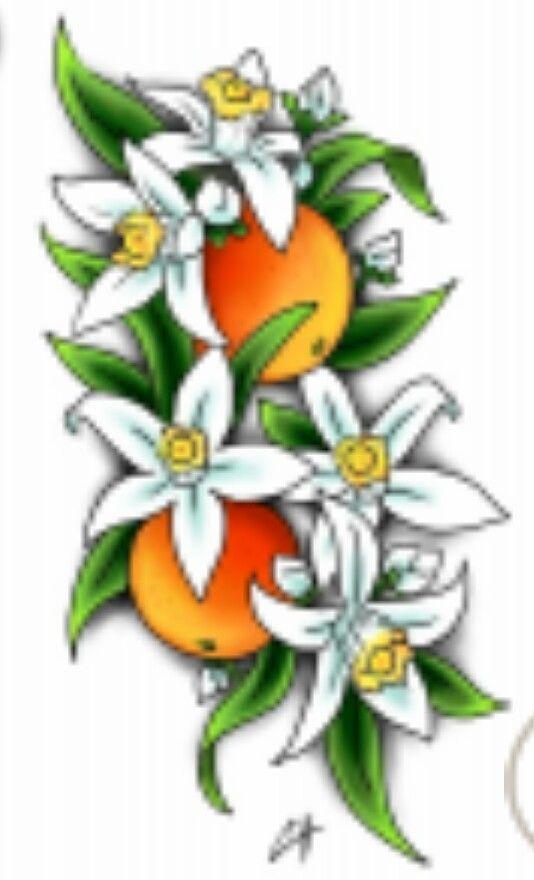 Orange Blossom Tattoo Idea Flower Drawing Flower Sketches Blossom Tattoo