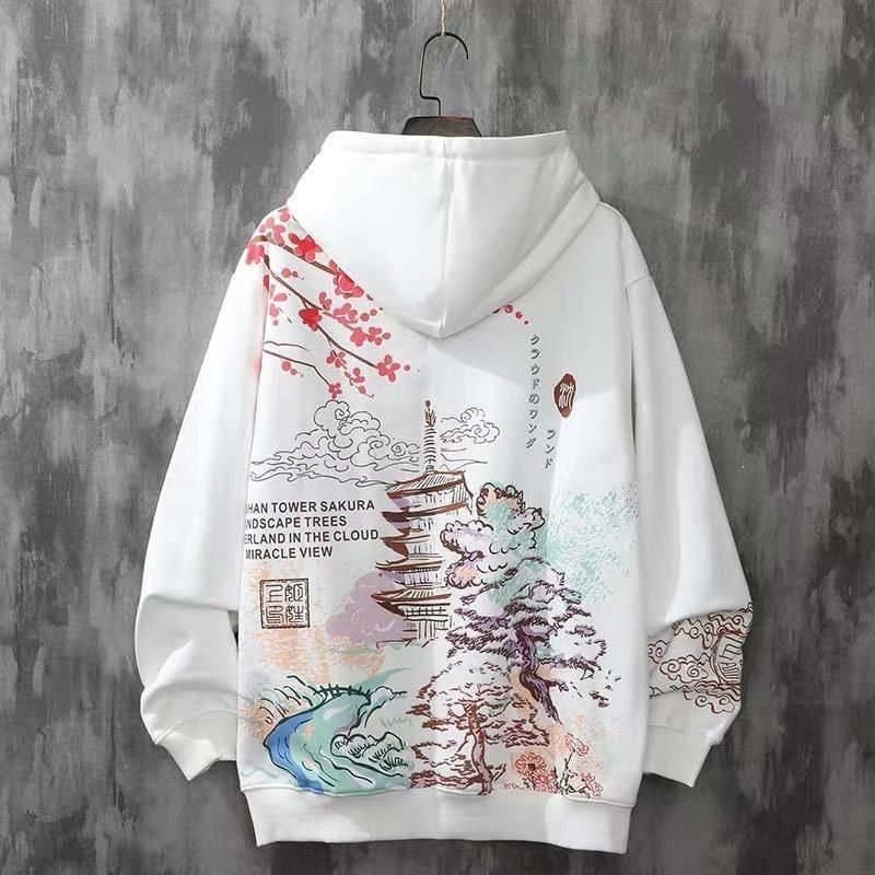 Photo of Anime Hoodies Sweatshirts Chinese Style Men Black Hoodies Sweatshirts Harajuku Oversized Pullovers Sweatshirts For Women CS455 – thin black / XL