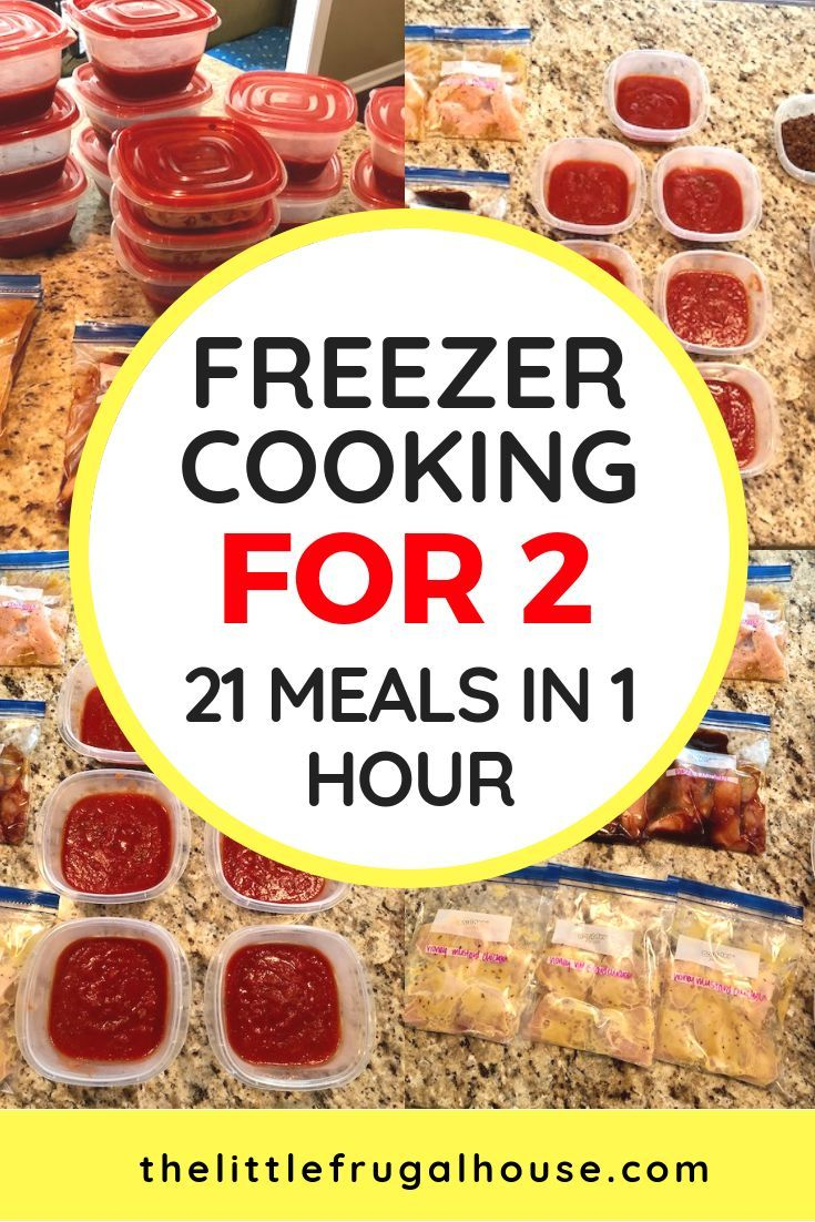 Freezer Cooking for 2: 21 Meals in 1 Hour images