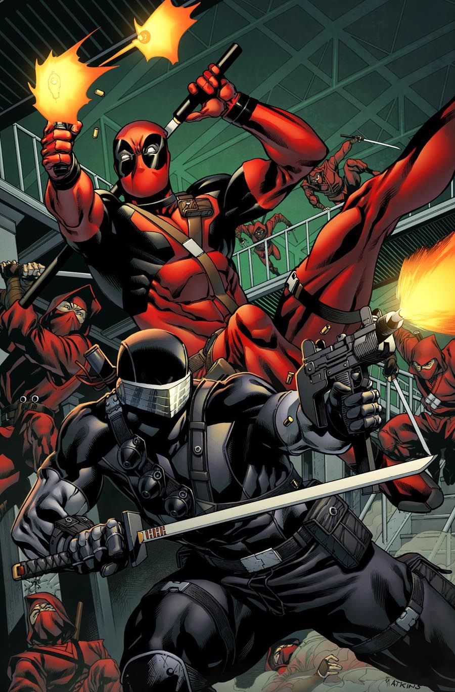 #Deadpool #Fan #Art. (Snake Eyes vs Deadpool) By: Spidermanfan2099. (THE * 5 * STÅR * ÅWARD * OF: * AW YEAH, IT'S MAJOR ÅWESOMENESS!!!™)[THANK Ü 4 PINNING!!!<·><]<©>ÅÅÅ+(OB4E)