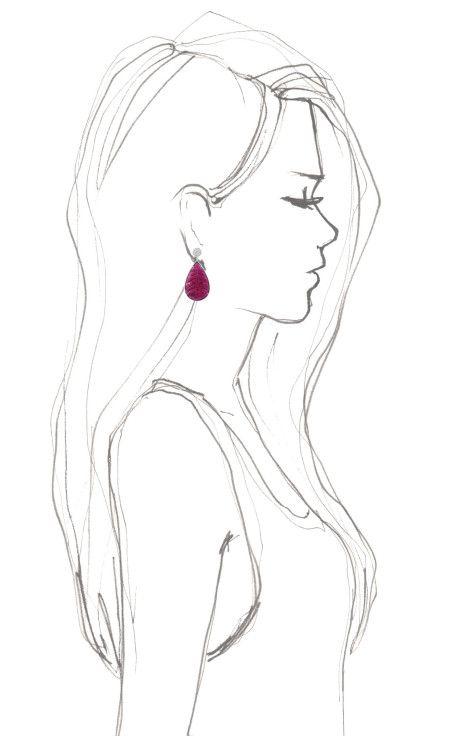 Carved Rubellite Diamond And Gold Earrings By Dana Rebecca Moda Operandi Art Sketches Art Art Inspiration