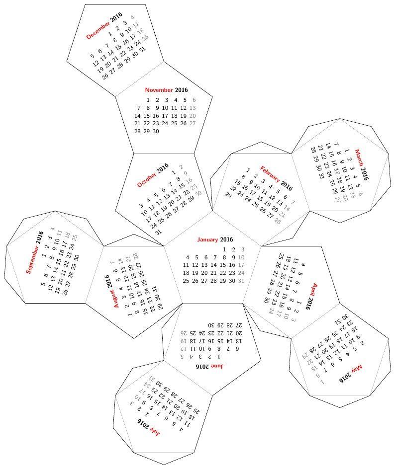 mesa calendar 2018