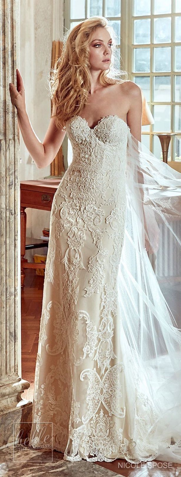 Nicole spose wedding dress collection fitted lace bridal gown