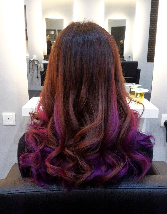 Multicolored Hair With Pink Purple And Ombre Highlights Numinous