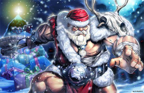 30 Creative Illustrations Of The Christmas Man Santa Claus Naldz Graphics Christmas Men Art Illustration