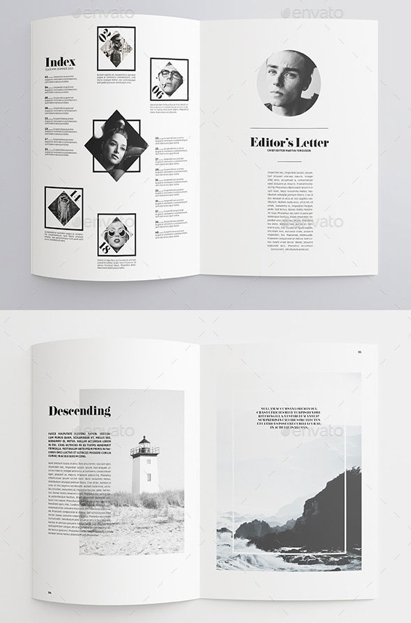 35 best magazine template designs i 2020  med bilder