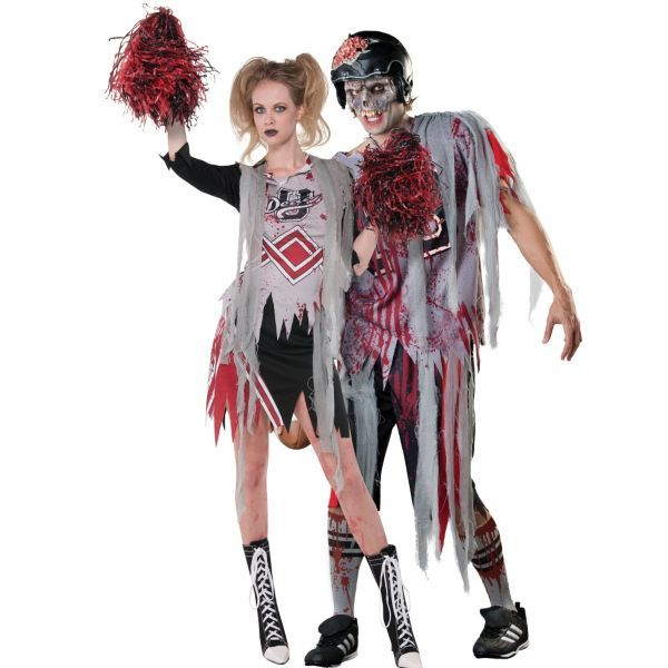 Zombie Cheerleader and Football Player Couples Costumes | costume ...