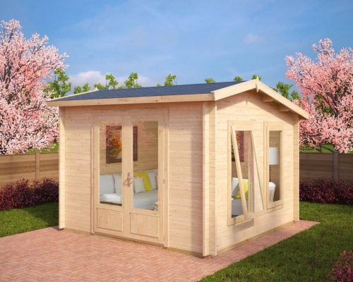 Gartenhaus Nora X 8,5m² / 40mm / 3x3 Gartenhaus